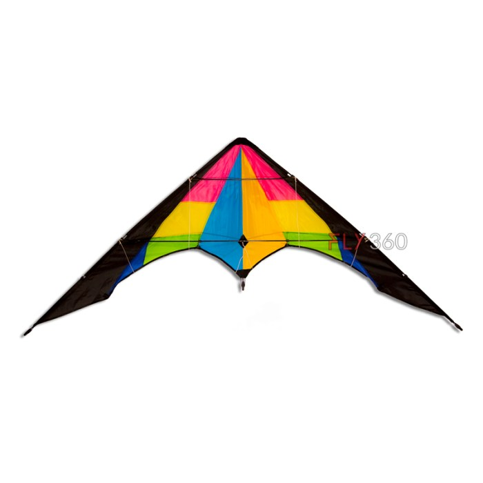 Rainbow Stunt kite- small size - Dual line kite - FLY360 kite store