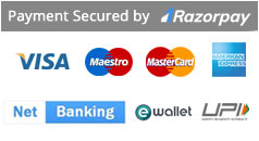 We accept all types of Credit Cards, Debit cards , E-wallet and Net banking