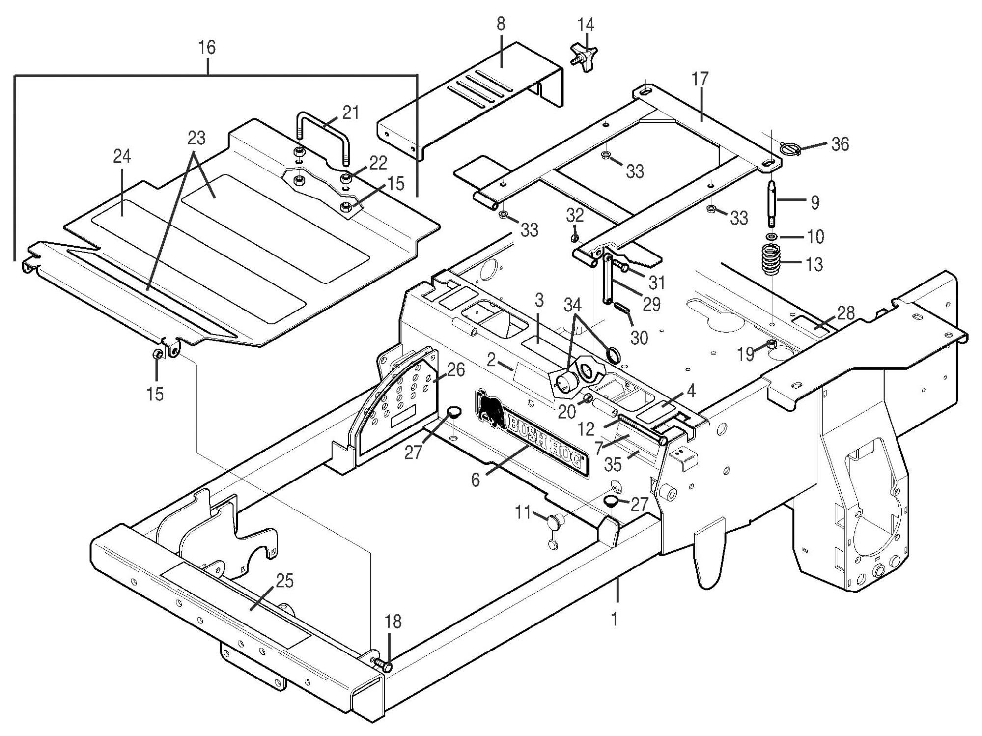 hight resolution of bush hog pz professional series zero turn mowers parts pz