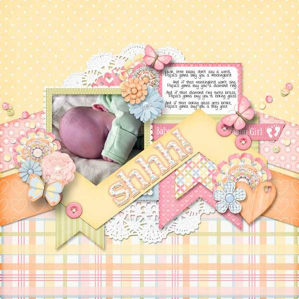 Gingerscraps Bundled Goodies Sweet Baby Girl Digital