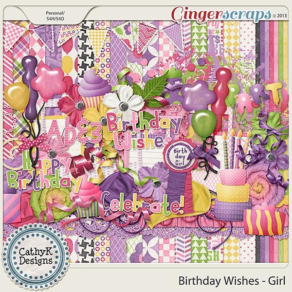 GingerScraps :: Kits :: Birthday Wishes - Girl Kit