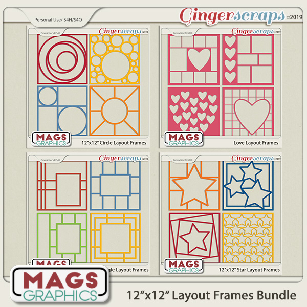 12x12 layout frame template