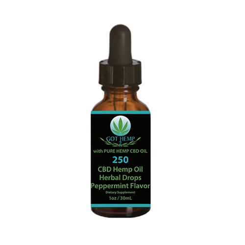 Got Hemp 2 - CBD Store - Duluth GA - CBD Hemp Oil Tinctures - 250mg Herbal Drops - Peppermint Flavor