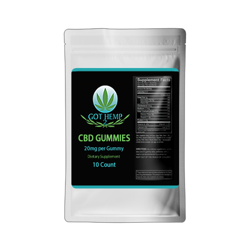 Got Hemp 2 - CBD Store - Duluth GA - CBD Gummies 20mg-10count-silver bag