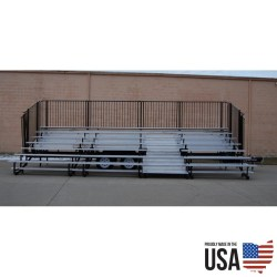 Granite Fold-N-Tow 107 Portable Bleachers - 107 seat Capacity