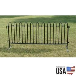 Granite Black Tie 8 ft Premium Fencing - 20 sections per pack