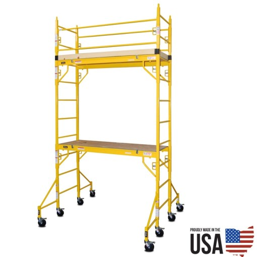 Granite Indy-606D Utility Scaffold - Double Unit with Guard Rail