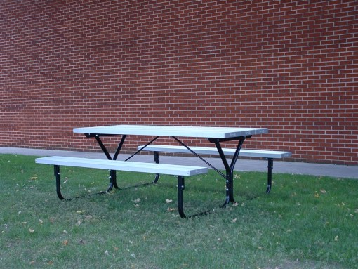 Metal Picnic Table - 6 foot with aluminum seating