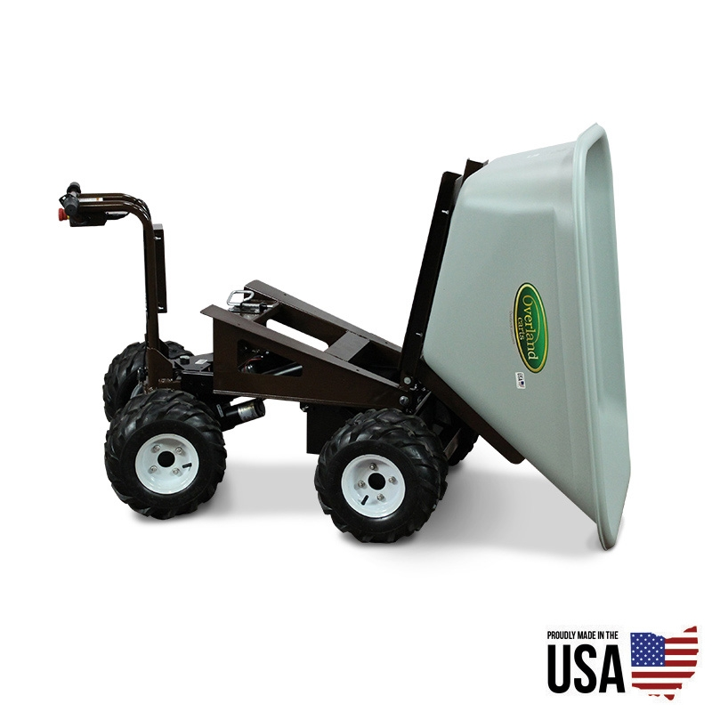 Overland Electric Powered 10 Cu Ft Wheelbarrow With Power