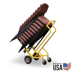 Folding Chair Picnic Table Potty For Older Child Stackable Cart - 10 Chairs
