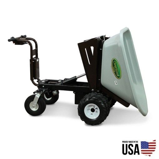Overland Electric Wheelbarrow – 8 cu. ft. with Power Dump and Extended Range Battery