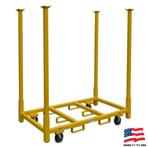 "American Cart Table Storage Cart with 66"" Legs"