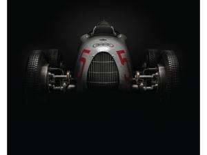 Auto Union Type C - Silver - 1937 - Poster image 1 on GreatBritishMotorShows.com
