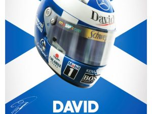 David Coulthard - Helmet - 2000 - Poster | Signed - Signed image 2 on GreatBritishMotorShows.com