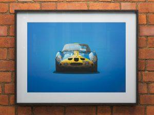 Ferrari 250 GTO - Blue - Targa Florio - 1964 - Colors of Speed Poster image 2 on GreatBritishMotorShows.com