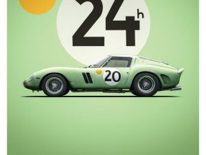Ferrari 250 GTO - Green - 24h Le Mans - 1962 - Limited Poster | Unique #s - #1 image 2 on GreatBritishMotorShows.com