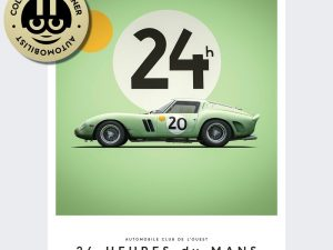 Ferrari 250 GTO - Green - 24h Le Mans - 1962 - Limited Poster | Unique #s - #1 image 1 on GreatBritishMotorShows.com