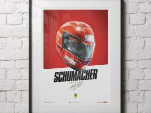Ferrari F1-2000 - Michael Schumacher - Helmet - Poster image 2 on GreatBritishMotorShows.com