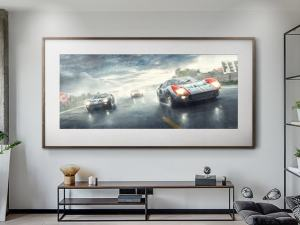 Fords And The Furious - Artwork - Large Print Unframed image 2 on GreatBritishMotorShows.com