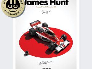 McLaren M23 - James Hunt - Japan - Japanese GP - 1976 - Limited Poster   Signed - #510 image 1 on GreatBritishMotorShows.com