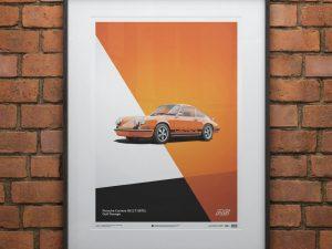 Porsche 911 RS - Orange - Limited Poster image 2 on GreatBritishMotorShows.com