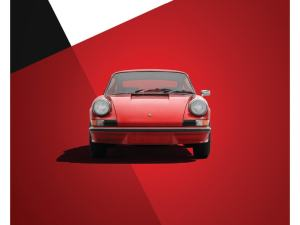 Porsche 911 RS - Red - Limited Poster image 1 on GreatBritishMotorShows.com