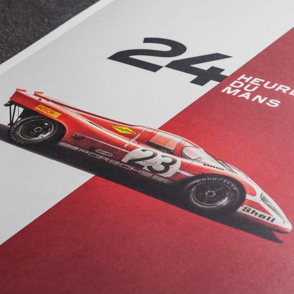 Porsche 917 - Salzburg - 24h Le Mans - 1970 - Limited Poster | Unique #s - #1 image 4 on GreatBritishMotorShows.com