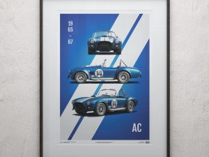 Shelby-Ford AC Cobra Mk III - Blue - 1965 - Limited Poster image 2 on GreatBritishMotorShows.com