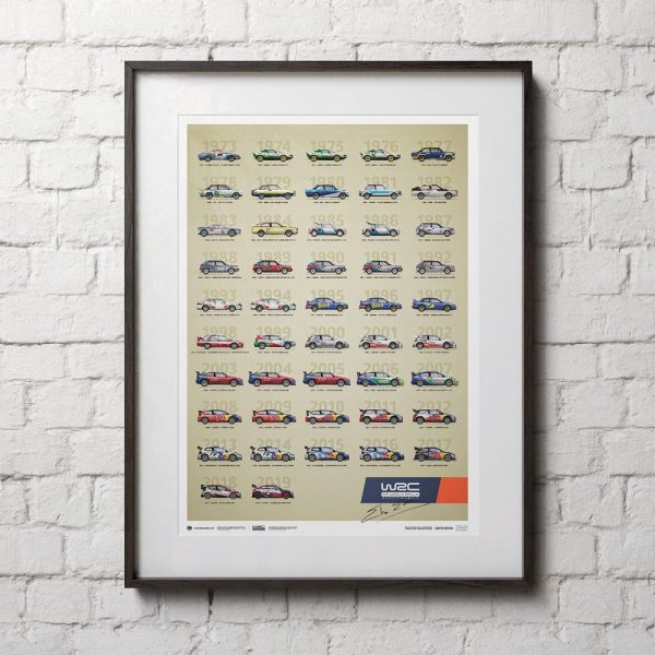 WRC Constructors' Champions 1973-2019 - 47th Anniversary | Limited Edition | Signed by Elfyn Evans - #328 image 3 on GreatBritishMotorShows.com