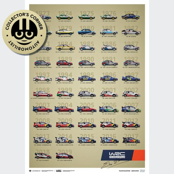 WRC Constructors' Champions 1973-2019 - 47th Anniversary | Limited Edition | Signed by Elfyn Evans - #328 image 1 on GreatBritishMotorShows.com
