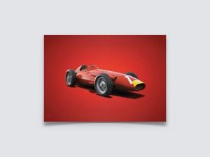 Maserati 250F - Juan Manuel Fangio - 1957 - Colors of Speed Poster