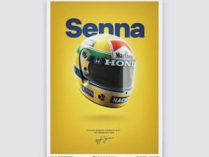 McLaren MP4/4 - Ayrton Senna - Helmet - San Marino GP - 1988 - Poster