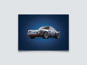 Porsche 911 RSR - Martini - Targa Florio - 1973 - Colors of Speed Poster