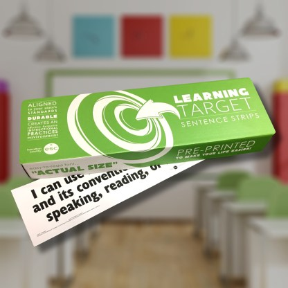 learning target sentence strip box
