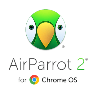 AirParrot 2 for Chrome OS logo - cartoon parrot face