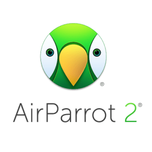 AirParrot 2 logo - cartoon face of parrot