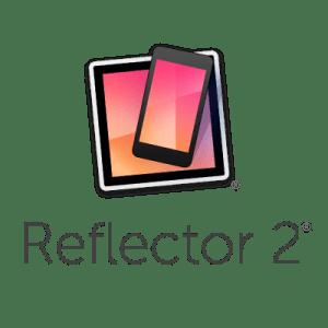 Reflector 2 logo - iPad with iPhone on top