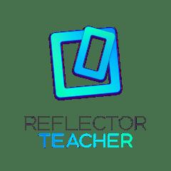 Reflector Teacher logo - light blue boxes