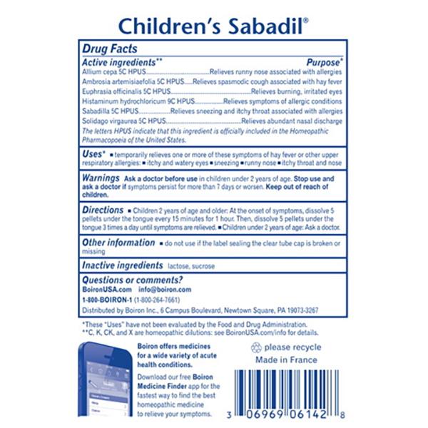 Children's Sabadil Pellets