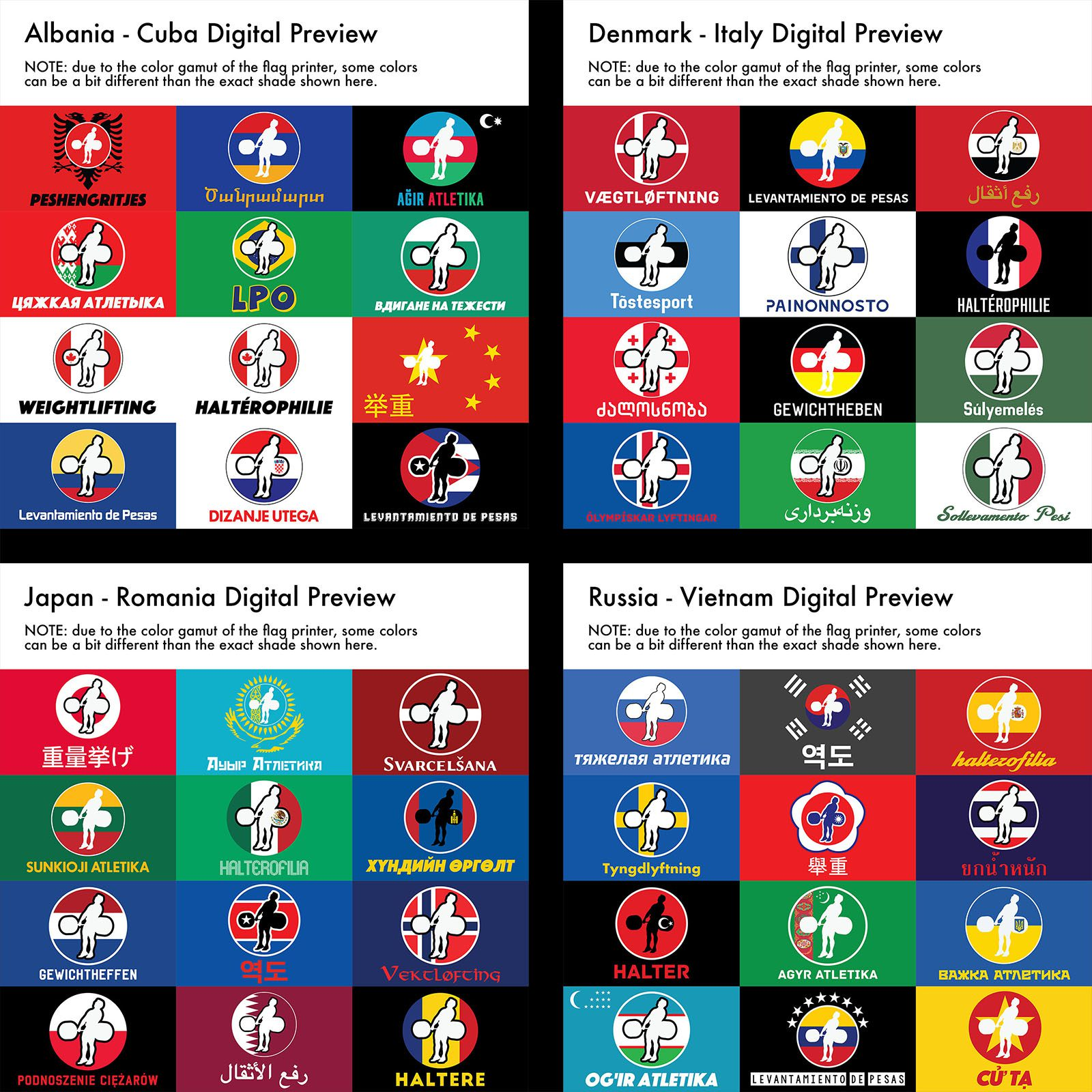 hookgrip country flags 64