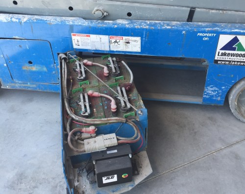 small resolution of scissor lift battery chargers
