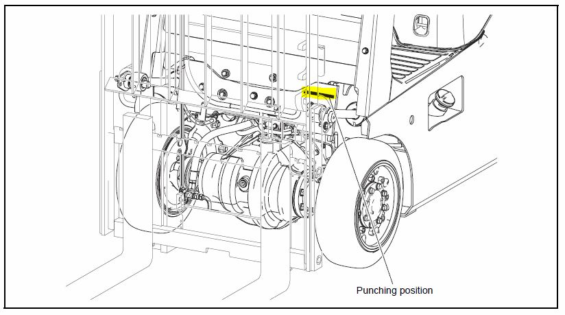 forklift engine parts diagram