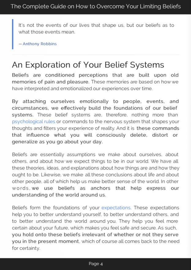 Overcoming Limiting Beliefs eBook