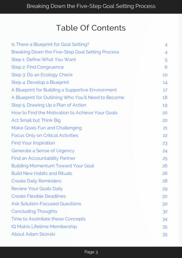 Goal Setting Process eBook