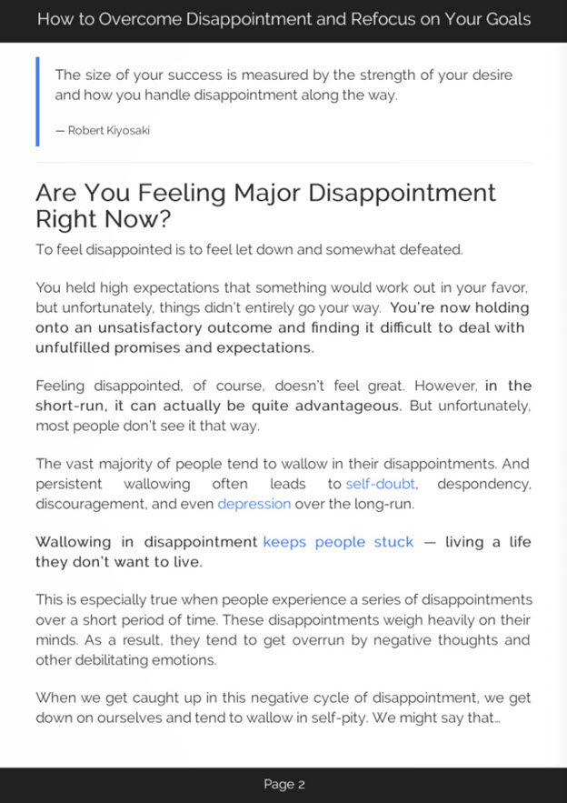 Overcoming Disappointment eBook