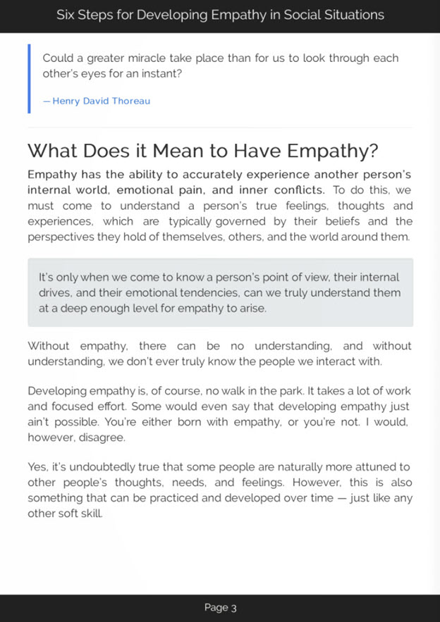 Steps for Developing Empathy eBook Introduction