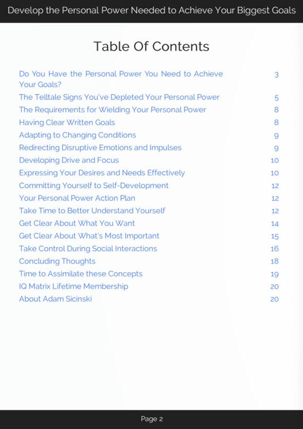 Personal Power eBook