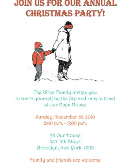 Christmas Party Invitation, CPIT-04