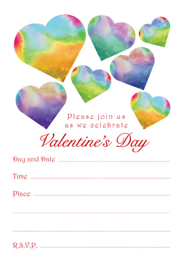Valentines Day Party Invitation, VPIT-02