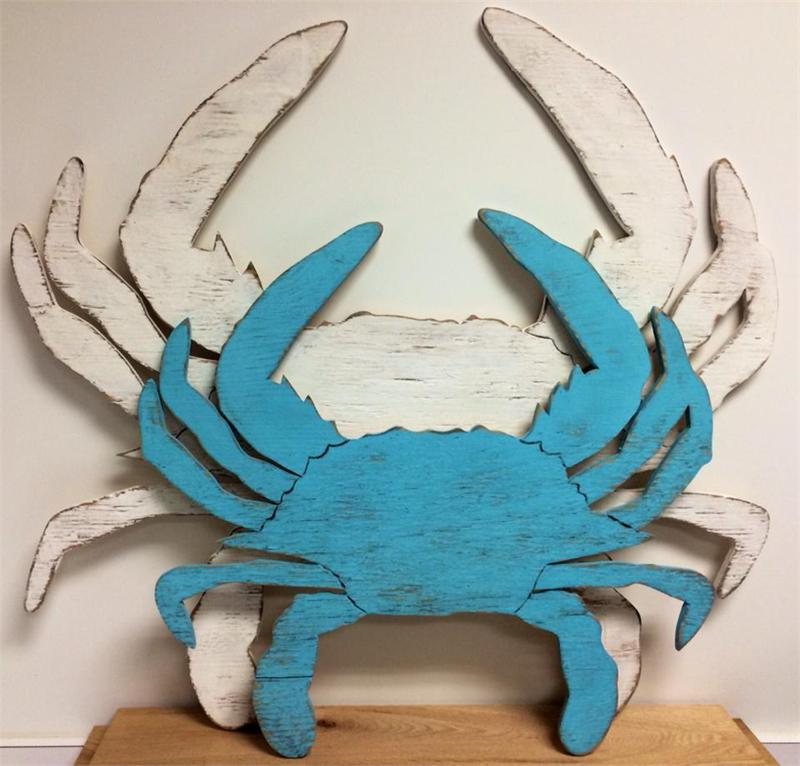 beach themed kitchen decor rolling island wooden crab cut out large